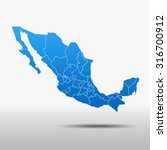 map of mexico | Shutterstock .eps vector #316700912