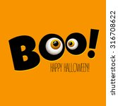 funny halloween greeting card... | Shutterstock .eps vector #316708622