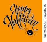 funny halloween greeting card... | Shutterstock .eps vector #316708745