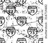 interstate 73 pattern  grunge ...
