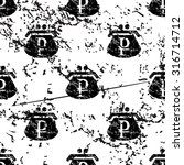 rouble purse pattern  grunge ...