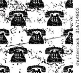 telephone pattern  grunge ...