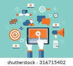 business on line video... | Shutterstock .eps vector #316715402
