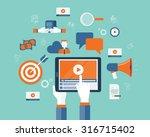 business on line video... | Shutterstock .eps vector #316715402