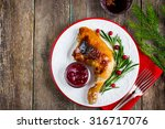 Roasted Chicken With Cranberry...