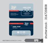 business card template vector... | Shutterstock .eps vector #316720808