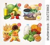 groups of healthy fruit ... | Shutterstock .eps vector #316723862