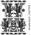 black dragon set 01. vector | Shutterstock .eps vector #3167243