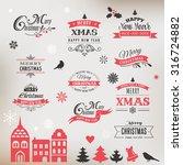 christmas design collection ... | Shutterstock .eps vector #316724882