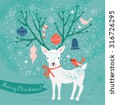 merry christmas greeting card... | Shutterstock .eps vector #316726295