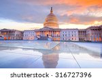the united states capitol... | Shutterstock . vector #316727396