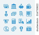 16 money icons.vector eps10 | Shutterstock .eps vector #316733822