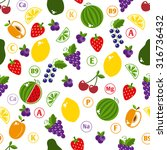 seamless pattern with fruits.... | Shutterstock . vector #316736432