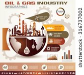 oil and gas industry... | Shutterstock .eps vector #316737002