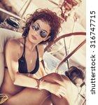 Stylish Girl Relaxing On...