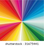 colorful explosion of ray... | Shutterstock . vector #31675441