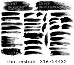 set of black ink vector stains | Shutterstock .eps vector #316754432