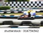 karting race go kart and safety ... | Shutterstock . vector #316756562