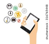 technology concept with gadgets ... | Shutterstock .eps vector #316765448
