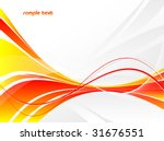 abstract vector wavy lines with ... | Shutterstock .eps vector #31676551