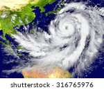 huge hurricane north of... | Shutterstock . vector #316765976