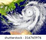 huge hurricane north of... | Shutterstock . vector #316765976