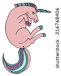 cute unicorn. cartoon... | Shutterstock .eps vector #316768406