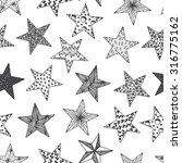 stars   vector black and white... | Shutterstock .eps vector #316775162