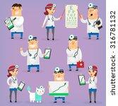 doctors and nurses characters... | Shutterstock .eps vector #316781132