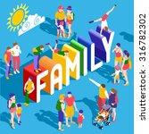 rainbow family lifestyle... | Shutterstock . vector #316782302