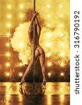 sexy pole dancer | Shutterstock . vector #316790192
