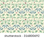 watercolor branches with leaves ... | Shutterstock . vector #316800692