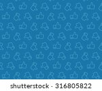 hand thumbs up icon seamless... | Shutterstock .eps vector #316805822