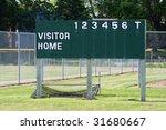 Six Inning Baseball Scoreboard...