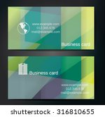 stylish business cards with... | Shutterstock .eps vector #316810655
