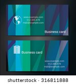 stylish business cards with... | Shutterstock .eps vector #316811888