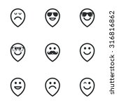 smile pointers icons. happy ... | Shutterstock .eps vector #316816862