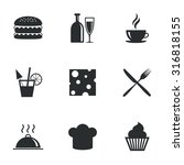 food  drink icons. coffee and... | Shutterstock .eps vector #316818155
