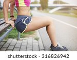 few sit ups and different... | Shutterstock . vector #316826942