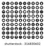 fashion icons set | Shutterstock .eps vector #316830602