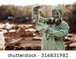 man with protective mask and... | Shutterstock . vector #316831982