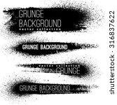 set of black ink vector stains | Shutterstock .eps vector #316837622