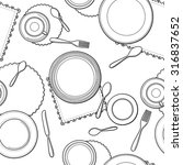 tableware seamless pattern.... | Shutterstock .eps vector #316837652