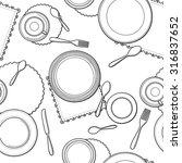 tableware seamless pattern.... | Shutterstock .eps vector #316837652