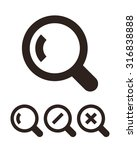 magnifying glass icon set... | Shutterstock .eps vector #316838888