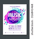 stylish flyer  banner or... | Shutterstock .eps vector #316841468