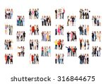 team over white together we... | Shutterstock . vector #316844675