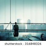 businessman thinking... | Shutterstock . vector #316848326