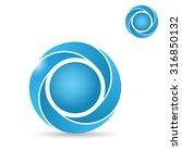 big segmented circle  o letter... | Shutterstock .eps vector #316850132