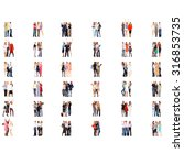 many colleagues business...   Shutterstock . vector #316853735